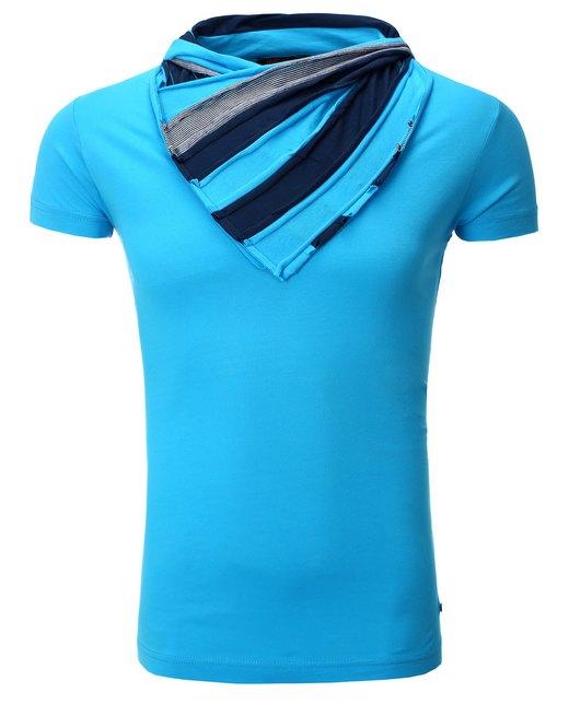 eae10c1714 herren-t-shirt-mit-gestreiftem-schalkragen-von-rerock-