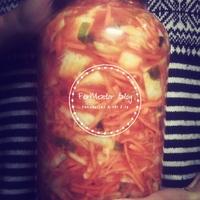 Egyszerű vegán kimchi - lépésről lépésre