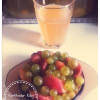 Fermentált barackos szőlőital