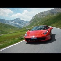 Ferrari 458 Spider on the Stelvio Pass