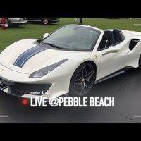 Ferrari 488 Pista Spider, 720 CV per un peso/potenza da record   Pebble Beach 2018