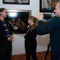 Riportműsor a második KÉP A FALON kiállítás megnyitójáról