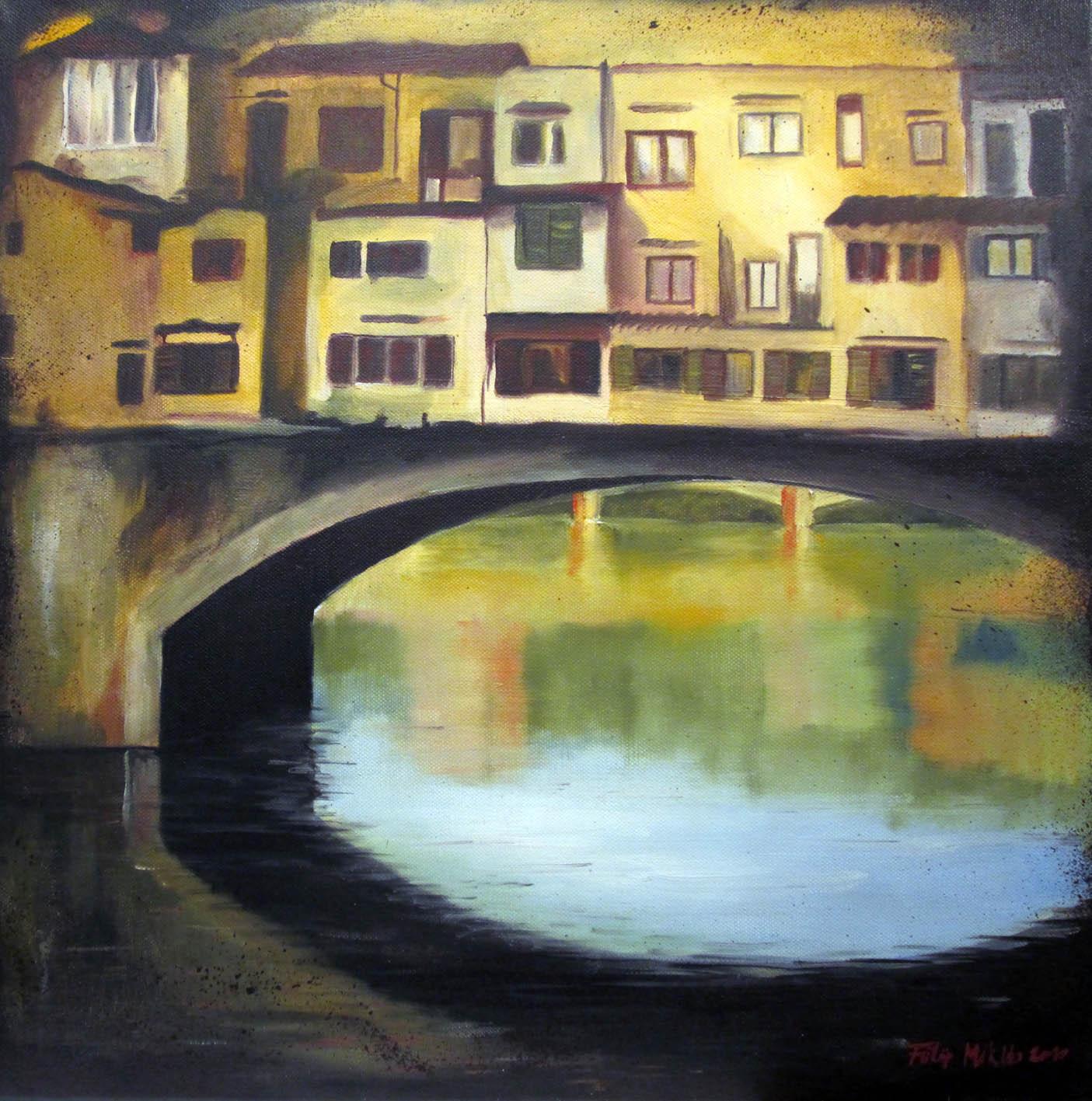 Az Arno tükre<br />50x50 cm, olaj/vászon (2010)<br />45 000 Ft
