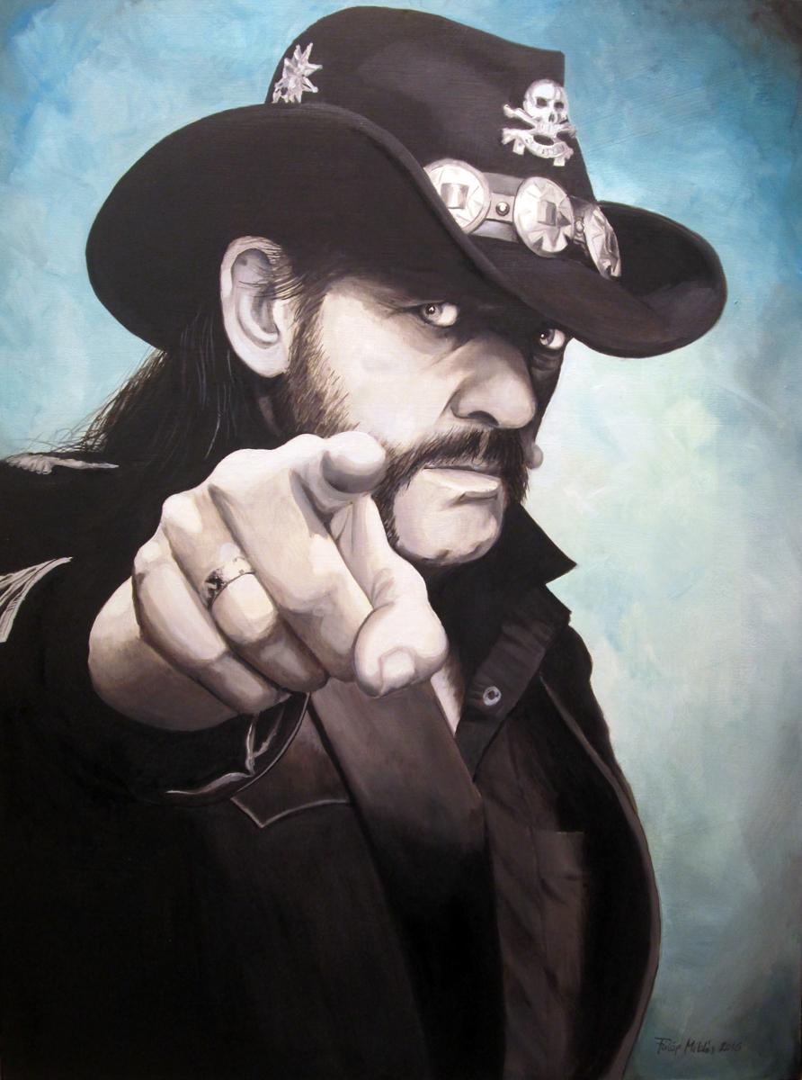 Lemmy<br />60x80 cm, olaj/vászon (2016)<br />59 000 Ft