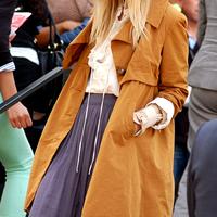 Street fashion in NY Fashion Week