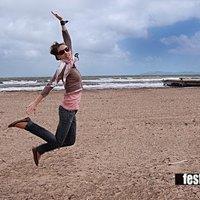 Jump on the beach