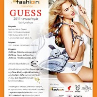 Invitation to the Guess fashion show