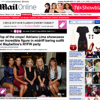 Press - With supermodels in Dailymail