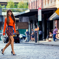 New York Fashion Week - Orange and blue