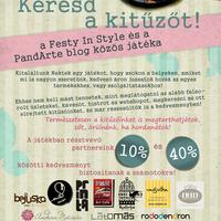Keresd a Kitűzőt-a Festy In Style és a PandArte blog közös nyereményjátéka