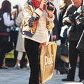 Street fashion at London Fashion Week #3