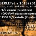 Szabadbérletek a 2013/2014-es évadra