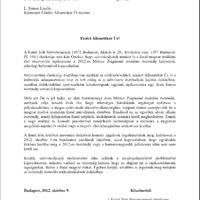 A FISZ elnökségének október 9-én elküldött levele Móricz-ügyben az államtitkárhoz és az illetékes főosztályhoz