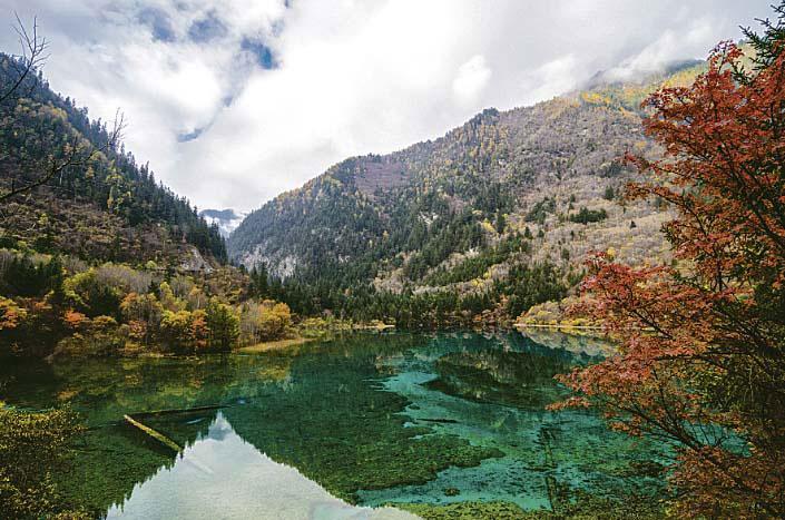 Jiuzhaigou tóvidéke