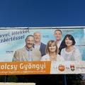 Fideszes óriásplakáton a független Matolcsyné