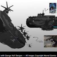 Helicarrier a Bosszú Angyalaiban