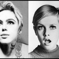 A hatvanas évek két leghíresebb modellje: Edie és Twiggy