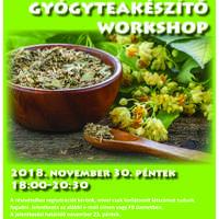 Karácsonyi gyógyteakészítő workshop - plakát