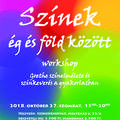 Színek és és föld között - workshop plakát