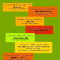 Kultúrműhely 2018 őszi programok