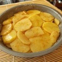 Sültkrumpli szirmok piteformában sütve
