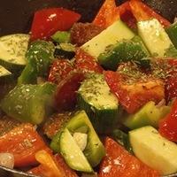 Tárkonyos grill zöldségek