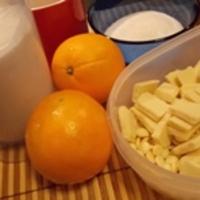 Fehércsokis-narancsos pohárkrém