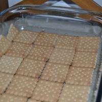 Almás-pudingos kekszes sütemény