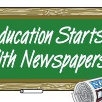Újságolvasás az iskolapadban