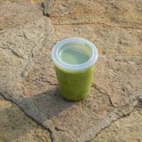 Zöldborsós brokkolifőzelék csirkével
