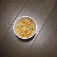 Rizs vajban párolt répával