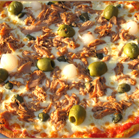 NoCarb - szezámos pizza