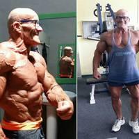 Fiatalokat megszégyenítő formában a 64 éves testépítő