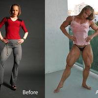 8 nő szteroid használat előtt és után