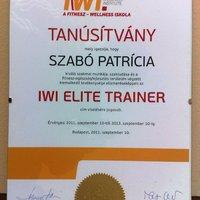 Szabó Patrícia - IWI Elite Személyi Edző  - blogajánló