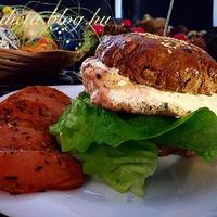 Fishburger light paleo buciban édesburgonyával
