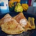 Palacsinta vaníliapudingos sült banánnal töltve