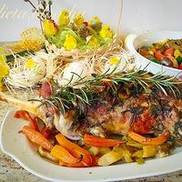 Húsvéti báránycomb grill zöldségekkel