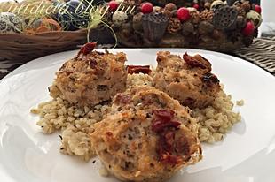 Fetás paradicsomos csirke muffin