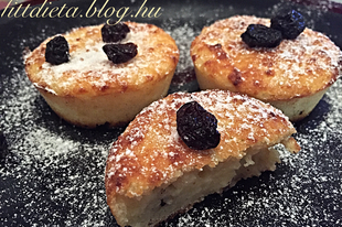 Mazsolás túró muffin