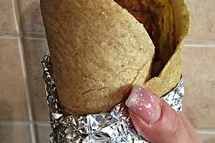 Fehérjedús zablisztes tortilla