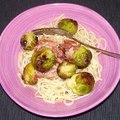 Spagetti sült kelbimbóval