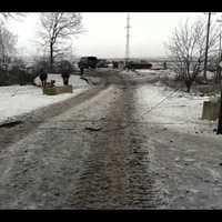 Orosz egyenruhások Debalcevótól keletre