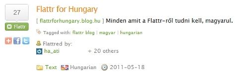Flattr for Hungary flattred by