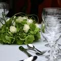 Esküvői asztaldekoráció - FLEURT stílusban