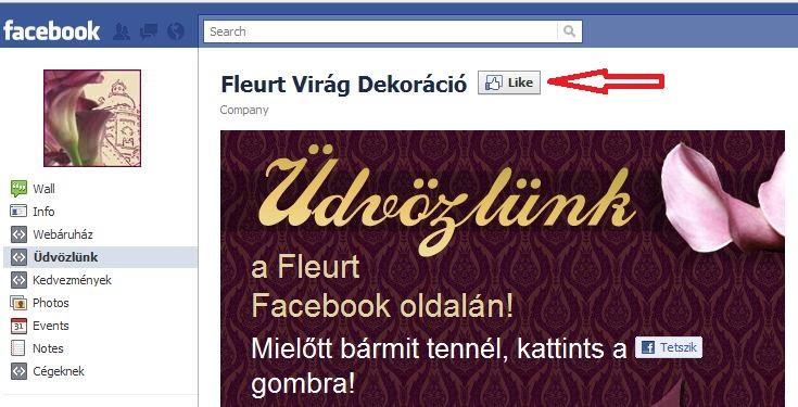 -10% kedvezmény csokrainkból minden Facebook rajongónknak
