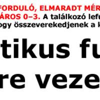 KIEMELT U19, 18. FORDULÓ, ELMARADT MÉRKŐZÉS: BUDAPEST HONVÉD–FERENCVÁROS 0–3. A találkozó lefújása után nem sok hiányzott ahhoz, hogy összeverekedjenek a két csapat játékosai