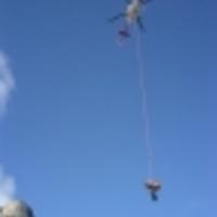 Helikopteres mentés nagyfalból