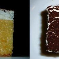 Oldalról fehér és sárga, felülről sötétbarna, mi az?