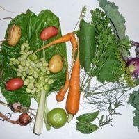 Zöldségek a díszkertben